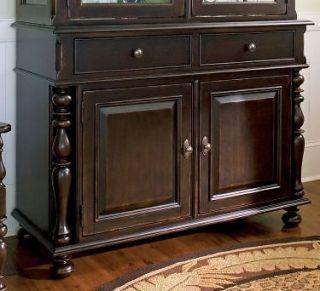 Universal Furniture Paula Deen Home Dark Tobacco Dining China Cabinet Curio