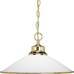 Progress Lighting Ceiling Pendant P5013 10 Polished Brass Light Fixture