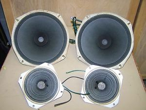 "4 Vintage Fisher Jensen Speakers from Tube Console Stereo Tweeters 4"" 8"""