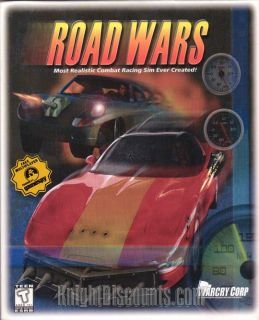 Road Wars RARE Classic Combat Racing Simulation PC Game New in Big Box 832031002018