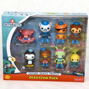 Octonauts Octo Crew Pack Dashi Peso Tweak Tunip Inkling Shellington New in Box