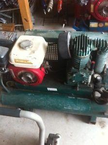 Wheeled Portable Gas Compressor Rol Air Honda Engine