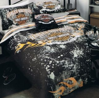 "Harley Davidson ""Ultimate Ride"" Single Bed Quilt DOONA Duvet Cover Set New"