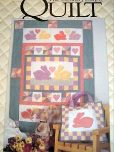 Spring Easter Bunny Rabbit Quilting Patterns Patchwork Quilt Tote Wall Hanging