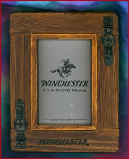 Western Decor Lodge Cabin Winchester 4x6 Picture Frame