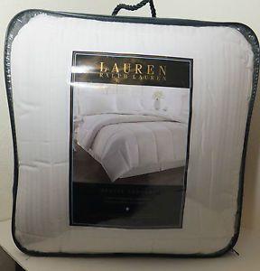Ralph Lauren Bronze Comfort Full Queen Down Alternative Comforter 300 TC White
