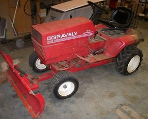 "Gravely Riding Tractor Model 12 G with 50"" Mower Deck and Plow"