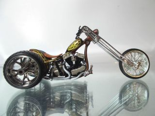 West Coast Choppers Jesse James Gold Digger Custom Trike 1 18 Scale Diecast 4U