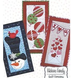 Winter Wonderland Seasonal Skinnies Quilt Pattern by Ribbon Candy Quilt Company