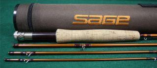 "Sage Model Fli 386 4 Line 3 Length 8'6"" Fly Rod 4 Piece w Case Excellent"