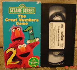 Sesame Street: The Great Numbers Game (1998 VHS) : Sony ...