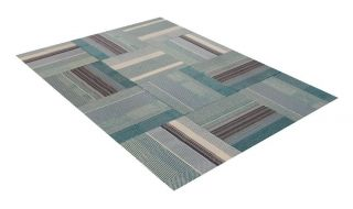 "Flor Swiss Alps Area Rug Tile Kit 6' 5"" x 5' 12 Tiles of 19 7"" x 19 7"""