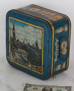 Butterfly Mantle Kerosene Lamp Stove Iron Lantern Vintage Old Antique Tin Can