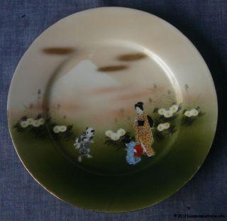 Antique Vintage Japanese Porcelain Plate Hand Painted Bone China