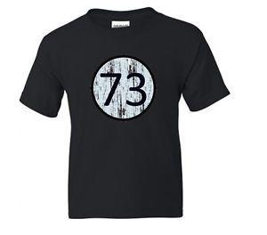 Kids Unisex T Shirt Sheldon Cooper Big Bang Theory Number 73 Sizes XS to XL