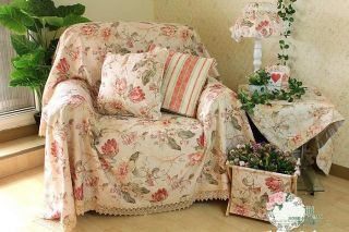 Shabby Country Floral Chair Sofa Loveseat Throw Cover Slipcover D Custom Made