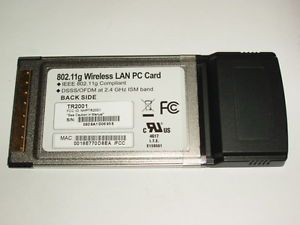WiFi Wireless PCMCIA Card New A B G 2 4GHz 802 11g Cameo TR2001 Dell HP IBM