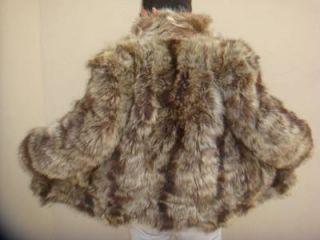 Genuine Coyote Raccoon Real Fur Pelz Fox Ladies Men Coat Plush Jacket M L F31
