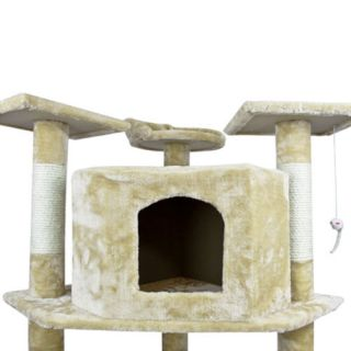 "80"" Cat Tree Condo Furniture Scratch Post Pet House Large Kitten Kitties Play In"