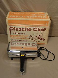Vtg Vitantonio Pizzelle Chef 300A 900W Italian Waffle Iron Automatic Maker Mfg