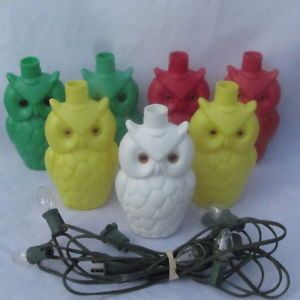 Patio string lights 7 noma blow mold owl string lights patio rv party vintage workwithnaturefo