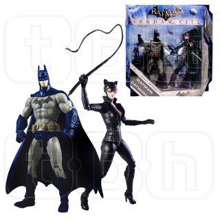 Batman Catwoman Figure Arkham City 2 PK Legacy Batman DC Universe Asylum Edition