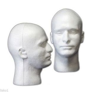 White Male Mannequin Manikin Styrofoam Heads Target Shooting