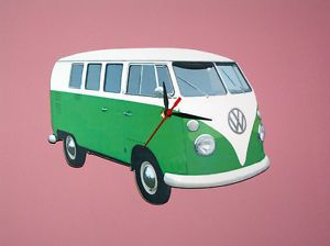 Volkswagen VW camper Van Green Wall Clock Split Screen