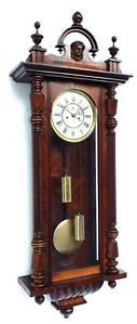 Antique Gustav Becker Double Weight Vienna Wall Clock Twin Regulator Wall Clock
