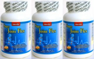 3X Triple Strength Joint Support Aid Glucosamine MSM Chondroitin 300 Tablets