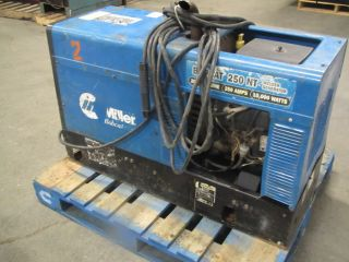 Miller Bobcat 250 NT Gas Power Welder Generator MIG Stick 250Amp Gun Cables