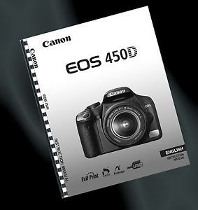 Printed Canon EOS 450D Digital Camera User Guide Instruction Manual A4
