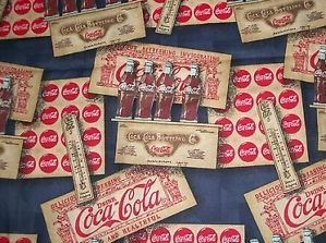Coca Cola Fabric Vintage Bottles Crates Advertising Signs Other Items RARE