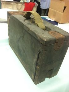 Vintage Military Green Wood Ammo Box Crate Storage Locker