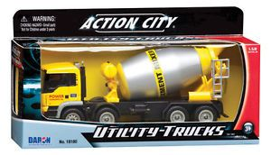 Action City Cement Mixer Utility Truck Scale 1 50