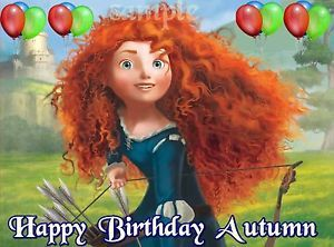 Brave Frosting Sheet Edible Cake Topper Image Decorations