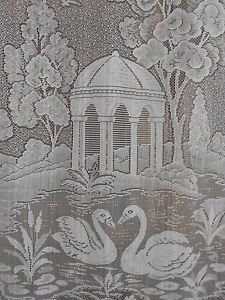 Swan Lake Garden Folly Lace Curtain Panel French Drape Motif Window Treatment
