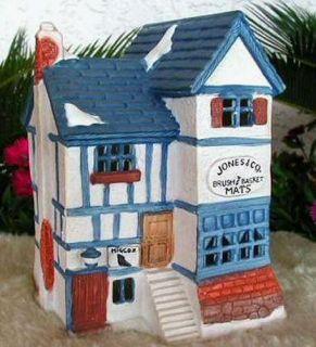 Jones Co Brush Basket Shop 1984 Department Dept 56 Dickens Village DV