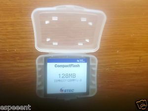 STEC 128MB Compact Flash Memory Storage Card Janome PC Card PCMCIA CF Adapter