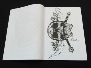 "Tibetan Skulls by Jack Mosher Horimouja Japanese Tattoo Flash Design Book NEW11"""