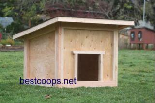 Large Dog House Plan 1