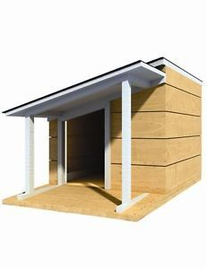"36"" x 48"" Dog House Plans Lean to Roof Pet Size to 100 lbs Med Dog 13"