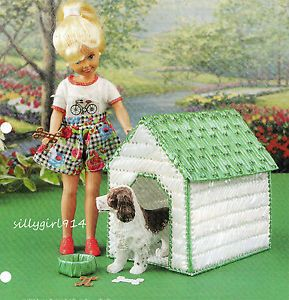 """Dog House"" Plastic Canvas Pattern for Barbie Fashion Dolll"