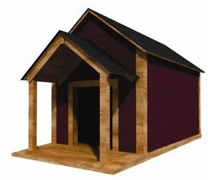 "36"" x 60"" Dog House Plans Gable Roof Pet Size Up to 100 lbs Large Dog 02"