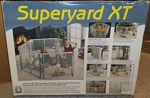 ... North States Superyard XT Baby Gate Play Yard 18 5 Sq Ft Dog Pen ...