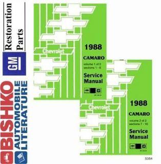 1988 Chevrolet Camaro Shop Service Repair Manual CD Engine Drivetrain Electrical