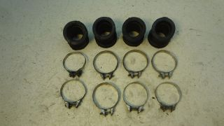 1978 Honda CB750A CB 750 Hondamatic H545 1 Carb Engine Air Boots and Clamps
