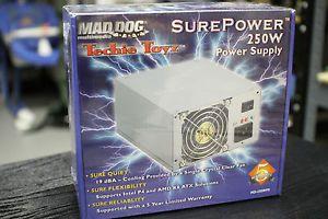 Mad Dog Multimedia Surepower 250W Power Supply ATX Intel P4 AMD K8