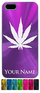 Personalized Aluminum iPhone 5 Case Cover Marijuana Leaf Pot Weed