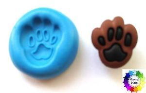 New Dog Paw Print Silicone Mould for Cupcake Card Toppers Fimo Sugarcraft